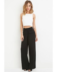 Forever 21 Flap Pocket Wide Leg Pants