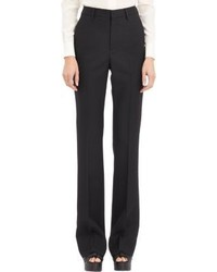 Saint Laurent Gabardine Flare Pants Black