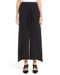 Yigal Azrouel Giorgio Wrap Front Wide Leg Pants