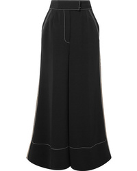 Roksanda Hasani Cropped Striped Cady Wide Leg Pants