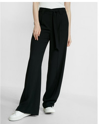 Express High Waisted Sash Tie Wide Leg Pant