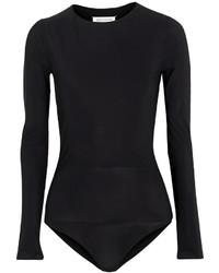 Maison Margiela Layered Stretch Jersey Bodysuit Black
