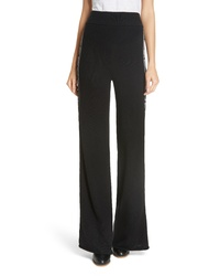 See by Chloe Metallic Knit Wool Blend Trousers
