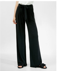 Express Mid Rise Belted Wide Leg Pant