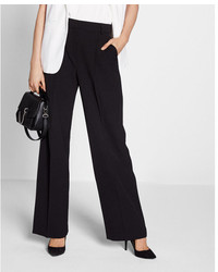 Express Mid Rise Front Pleat Wide Leg Pant