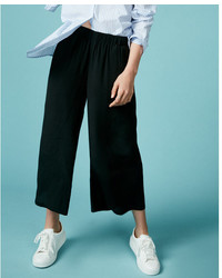 Express Mid Rise Wide Leg Pull On Pant