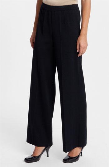 Ming Wang Wide Leg Pants Black Size Medium Medium