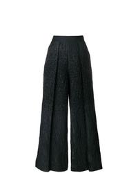 Talbot Runhof Pebbled Wide Leg Trousers