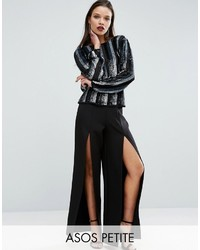 Asos Petite Petite Super Highwaist Wide Leg Pant With Split Detail