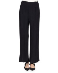 Proenza Schouler Pleated Wide Leg Suiting Pants Black