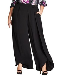 Plus size split front wide leg pants medium 4951301
