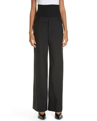 Ji Oh Removable Rib Trousers
