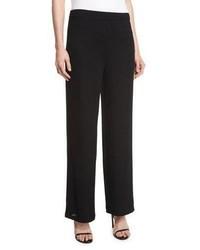 Joan Vass Rochelle Wide Leg Pants Black Plus Size