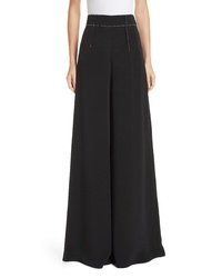 Cushnie Silk High Waist Wide Leg Pants