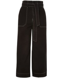 Topshop Stab Stitch Wide Leg Trousers