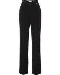 Balenciaga Stretch Crepe Straight Leg Pants