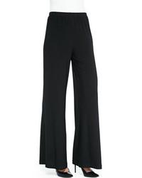 Caroline Rose Stretch Knit Wide Leg Pants Plus Size