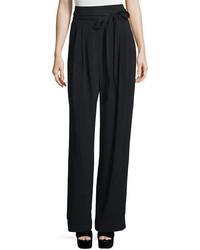 Marc Jacobs Tie Waist Wide Leg Pants Black