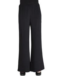 Caroline Rose Wide Leg Silk Crepe Pants