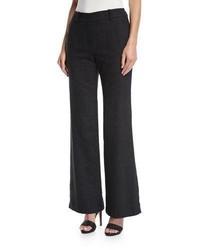 Trina Turk Wide Leg Speckled Wool Silk Trousers