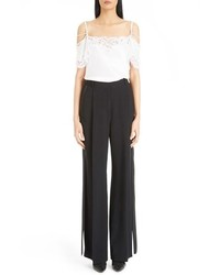 Givenchy Wide Leg Stretch Cady Tuxedo Pants