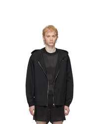 Rick Owens Black Champion Edition Hooded Jacket