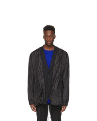 Juun.J Black Detachable Raincoat Jacket