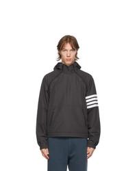 Thom Browne Black Double Zip 4 Bar Anorak Jacket