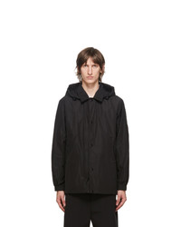 Burberry Black Ealing Hooded Jacket