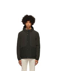 Z Zegna Black Hooded Field Jacket