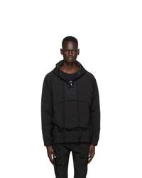 Nahmias Black Lace Up Hooded Jacket