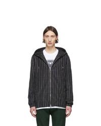 Burberry Black Logo Stripe Anorak Jacket
