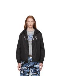 Valentino Black Logo Windbreaker Jacket