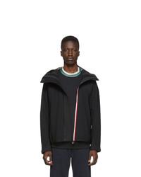 MONCLER GRENOBLE Black Maglia Zip Up Jacket