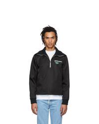 Prada Black Nylon Half Zip Jacket