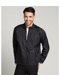 Robert Graham Black Nylon Volas Zip Windbreaker Jacket