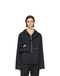 Maison Margiela Black Recycled Nylon Sports Jacket