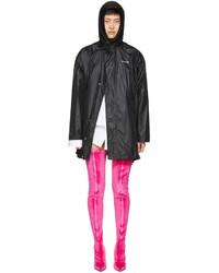 Black scarf windbreaker jacket medium 4392386