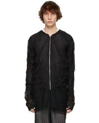 Maison Margiela Black Silk Organza Jacket