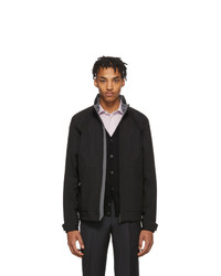 Z Zegna Black Soft Shell Jacket