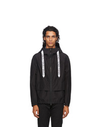 Fendi Black Tape Cotton Windbreaker Jacket