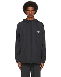Reebok Classics Black Windbreaker Zip Up Jacket
