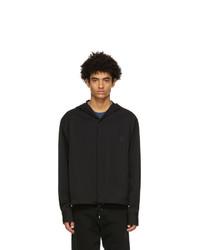 Lanvin Black Wool Hooded Shirt