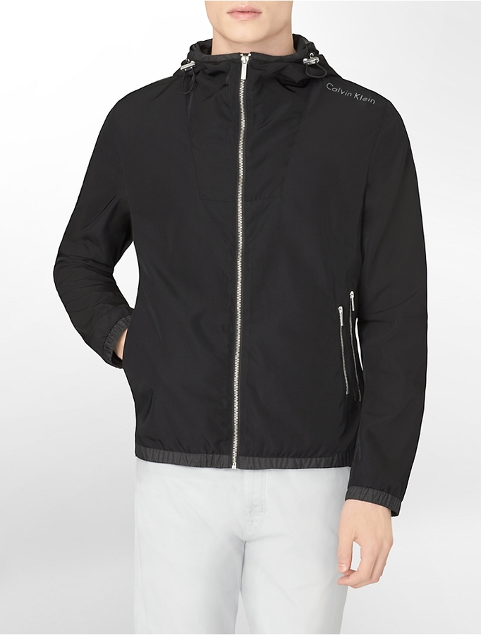 Calvin Klein Lightweight Hooded Windbreaker Jacket | Where to buy ...