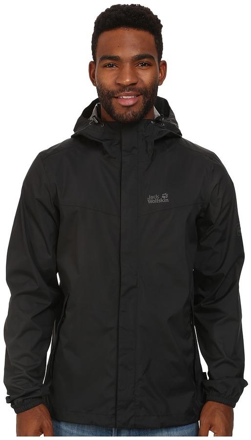 ... Black Windbreakers Jack Wolfskin Cloudburst Jacket