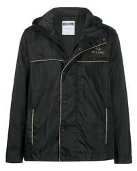 Moschino Double Question Mark Logo Hodded Jacket