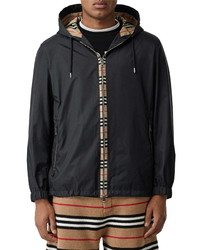 Burberry Everton Icon Stripe Nylon Hooded Jacket
