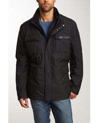 Cole Haan Genuine Leather Trim Sporty Rain Jacket
