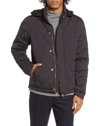 Scotch & Soda Hooded Lightweight Diamond Quilted Jacket
