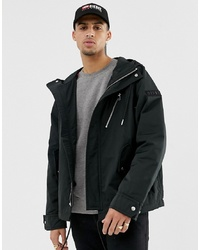 Diesel J Ryota Wh Zip Through Jacket In Black With Contrast Detail